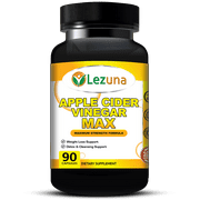Apple Cider Vinegar Capsules, ACV, Spirulina, Lecithin, Kelp, More - Natural Weight Loss Support, Detox, Digestion Support, Premium Supplement - 90 Capsules