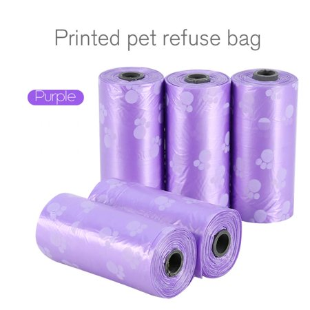 Lv. life 5-20 Roll Pet Waste Bags Handle Dog Cat Pick Up Poop Clean Up Refill Rubbish Bag, Refill Rubbish Bag,Waste
