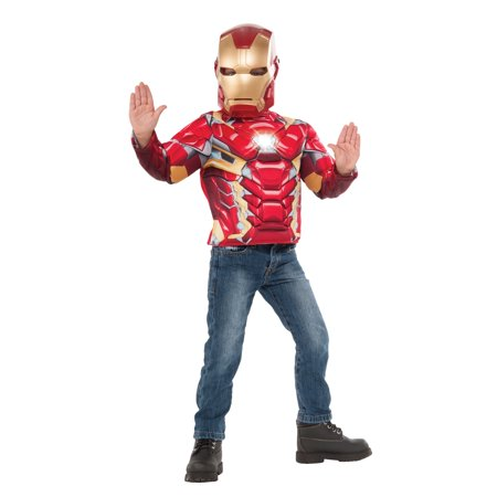 Boys Iron Man Light Up Costume Top Set](Iron Man Costum)