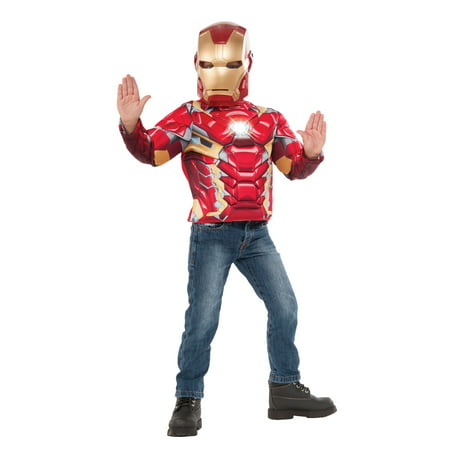 Boys Iron Man Light Up Costume Top Set