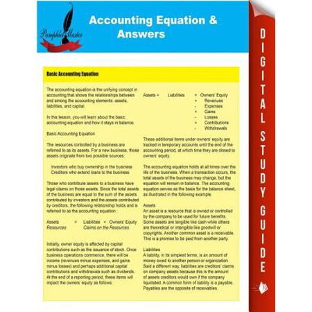 Accounting Equations & Answers - eBook