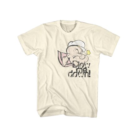 Popeye The Sailor Man Cartoon Comic Character Blow Me Down  Adult T-Shirt Tee