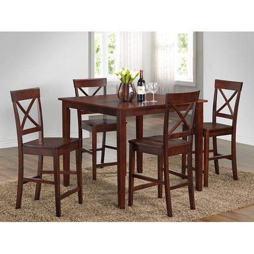 Roundhill Furniture 5 Piece Pub Table Set