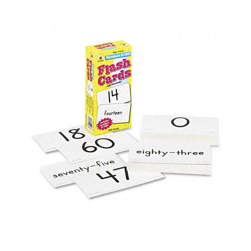 CARSON-DELLOSA PUBLISHING                          Numbers 0-100 Flash Cards, 104/Pack