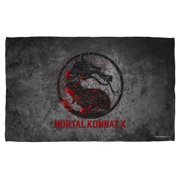 Mortal Kombat X Stone Logo Beach Towel White 36X58
