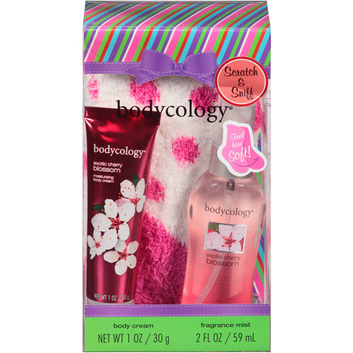 bodycology Exotic Cherry Blossom Sock Gift Set, 3 pc