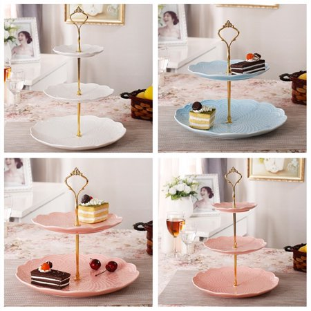 Stands, 3-Tier Sunflower Metal Fruits Cakes stand Hardware Crown ...