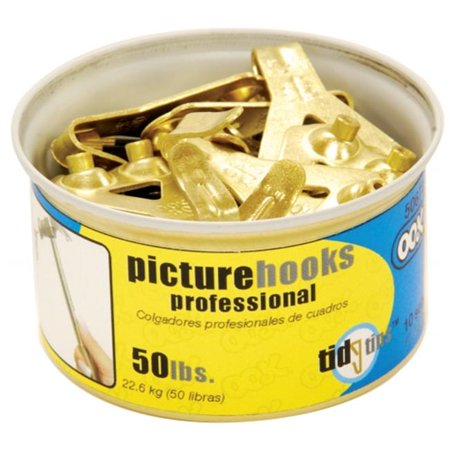 Hillman Group Inc-Ook 50674 50# Professional Picture Hooks In Tidy Tin 10 Count