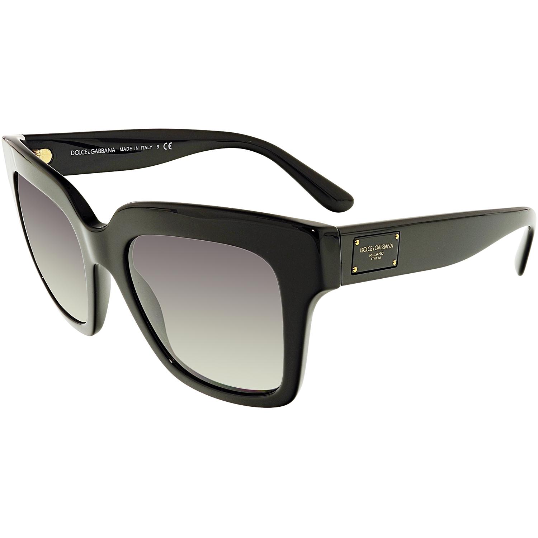 Dolce & Gabbana Women's Gradient DG4286-501/8G-51 Black Butterfly Sunglasses