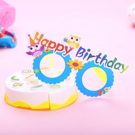 12 Pcs/lot Funny Cartoon Paper Glasses Kids Gift Photo Booth Props Halloween Christmas Party Decoration Style:Birthday - Halloween Kids Cartoon
