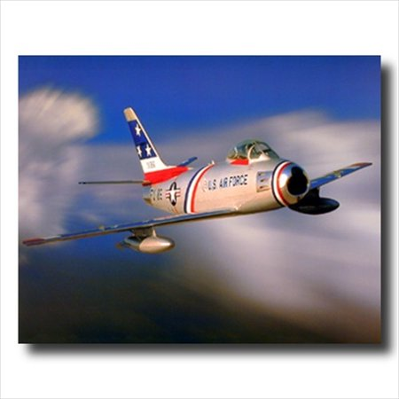 USAF F-86 Sabre Jet Airplane Wall Picture Art (Airplane Art Print)