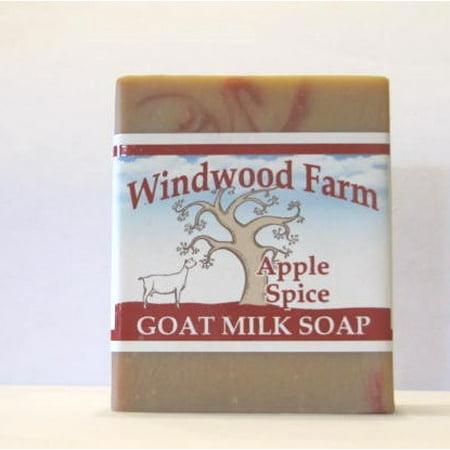 Windwood Farm Goat Milk Soap Apple Spice 4 oz Hand Made