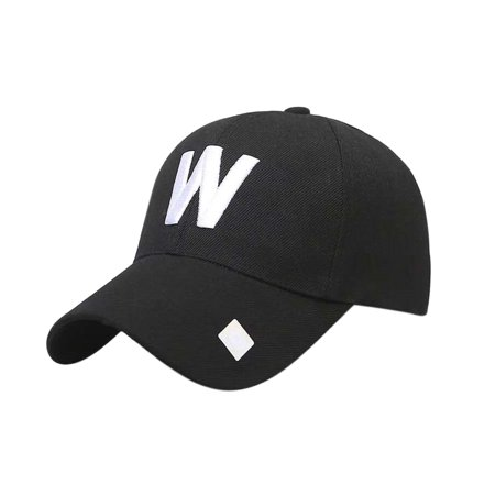 Classic W Letter Baseball Hat Outdoor Travelling Couple Peaked Cap Simple Sunshade Monogrammed -