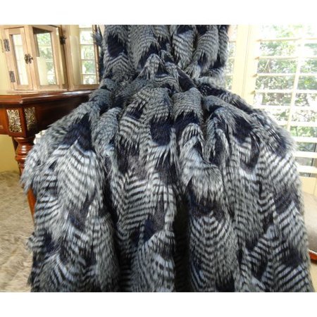 Loon Peak Rybicki Feather Faux Fur (Tri Peaks Solitaire Halloween)