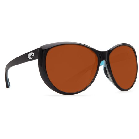 Costa Del Mar La Mar Black/White/Aqua Round Sunglasses