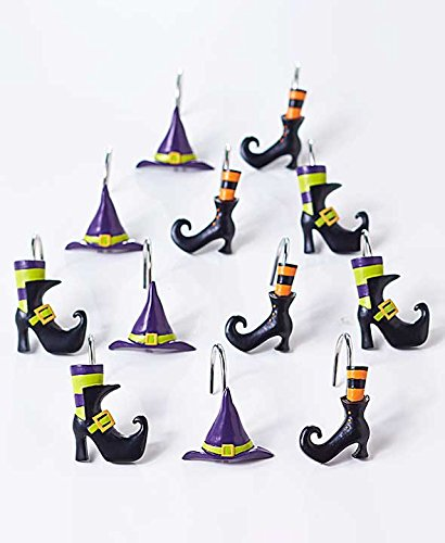 Hostess Witch Broom Halloween Decor Dish Towel Funny Halloween Gift Frequent Flyer Witch Hat Funny Halloween Dish Towel Guest Bath
