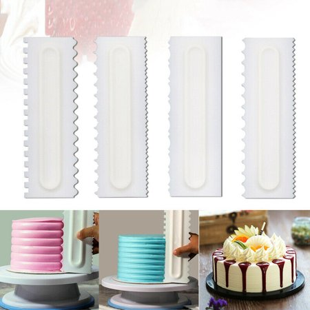 - Jeobest Plastic Cake Scraper Icing Smoother - Cake Decorating Comb and Icing Smoother - 4PCS Cake Decorating Comb Icing Smoother Scraper Pastry Baking Decorating Cake Scraper Smoother Tool MZ