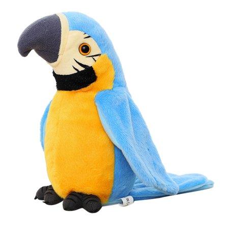 Adorable Speak Talking Record Repeats Waving Wings Cute Parrot Stuffed Plush