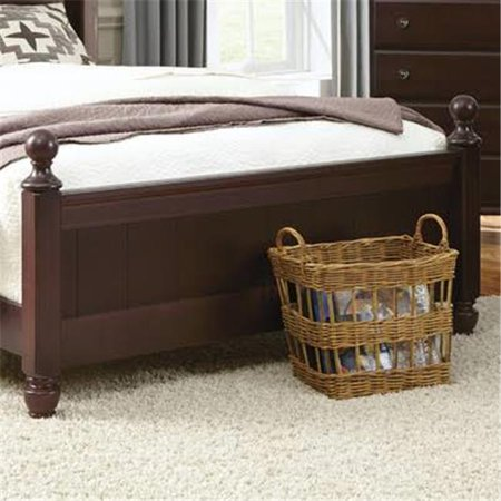 Carolina Furniture Works 527853 30.5 x 65.25 x 4.25 in. Wood Panel Footboard, Queen Size - Espresso