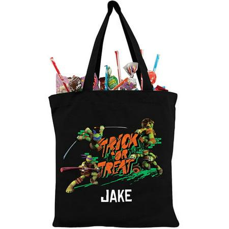 Teenage Mutant Ninja Turtles Personalized Black Trick or Treat Bag](Trick Or Treat Halloween Tote Bag)