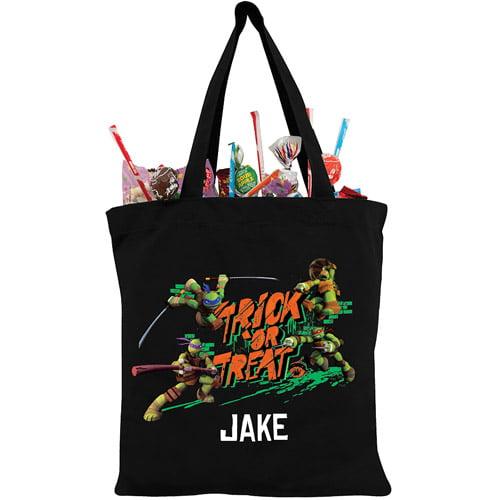 Teenage Mutant Ninja Turtles Personalized Black Trick or Treat Bag