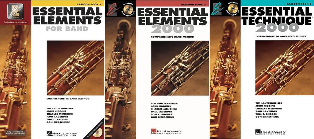 Essential Elements for Band Bassoon, Books 1-3, 3 Book Set, EE BASOON SET 1-3 by Hal Leonard