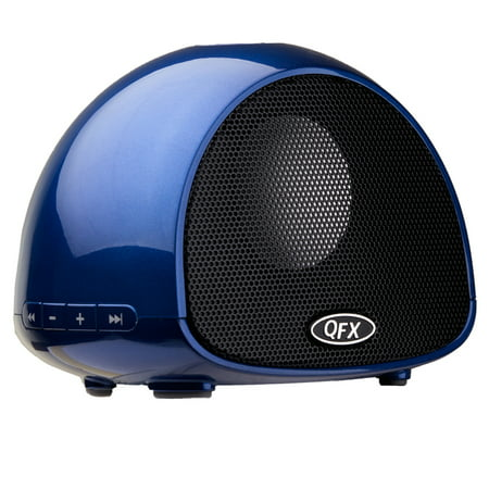 QFX Blue Bluetooth Speaker With Microphone
