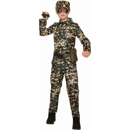 Green Army Men Costume (Halloween Boy's Army Jumpsuit Child)