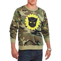Men's Transformers Autobots Logo Long Sleeve Camouflage Raglan Graphic Sweatshirt