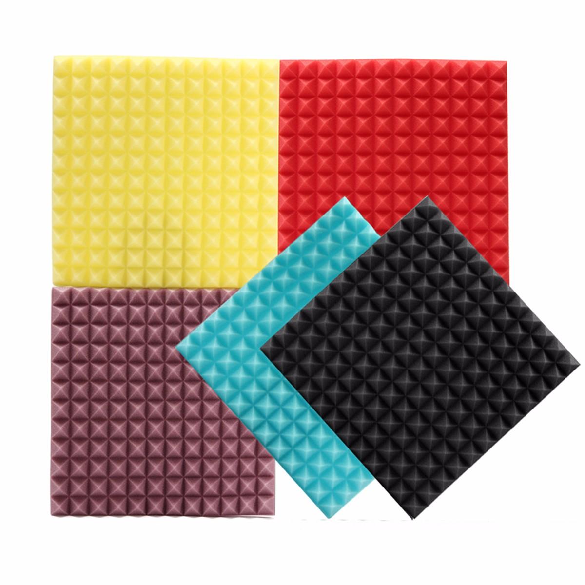 "1Pcs 12""x12""x1.2"" Acoustic Foam Panels Soundproofing Wedge Wall Tiles Studio Acoustic Foam Sponge Insulation Sound For KTV Studio"