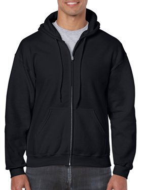 Gildan Men's and Big Men's Heavy Blend Full Zip Hooded Sweatshirt, up to Size 3XL