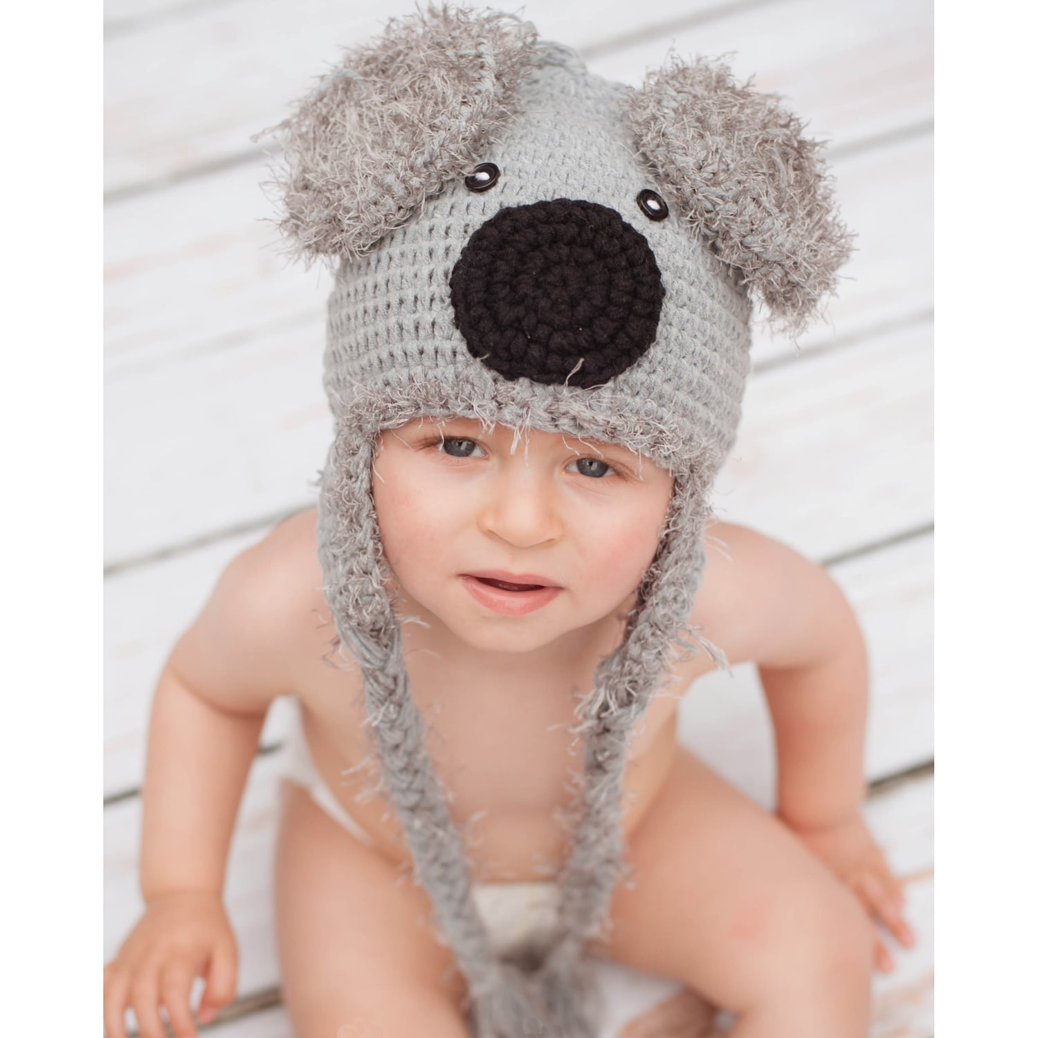 Knitnut By JL Handmade Baby's Koala Bear Knit Hat
