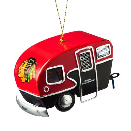 Metal Chicago Blackhawks Camper Ornament, Cheer on the Blackhawks from home or on the road with this vintage camper ornament! By Team Sports America from (Best Cheer Teams In America)