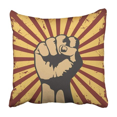 ARTJIA Fist Gesture Of Hand In Grunge Human Arm Communication Direction Finger Gesturing Ideas Pillowcase 20x20 inch - One Direction Gift Ideas