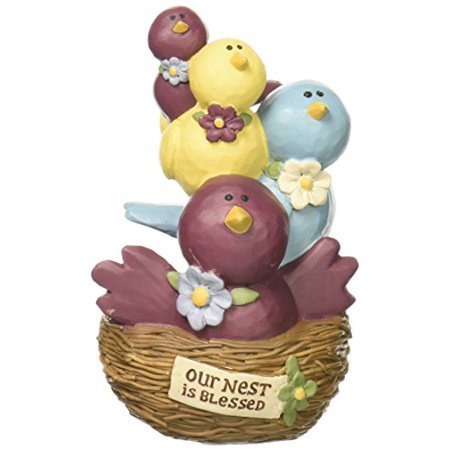 """Blossom Bucket """"Nest is Blessed' Stacked Birds Decor - image 1 of 1"""