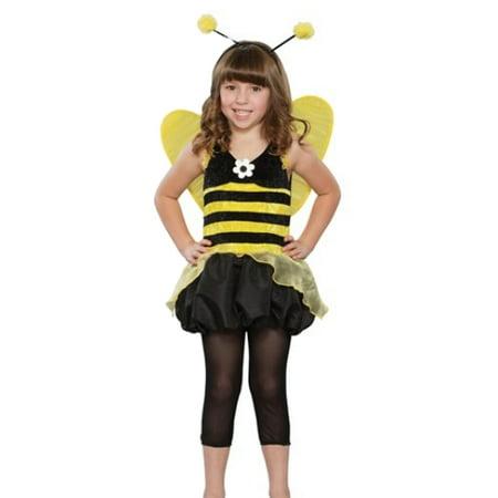 Seasons Girls Queen Honeybee Costume Bee Dress & Wings Small - Queen Bee Dress