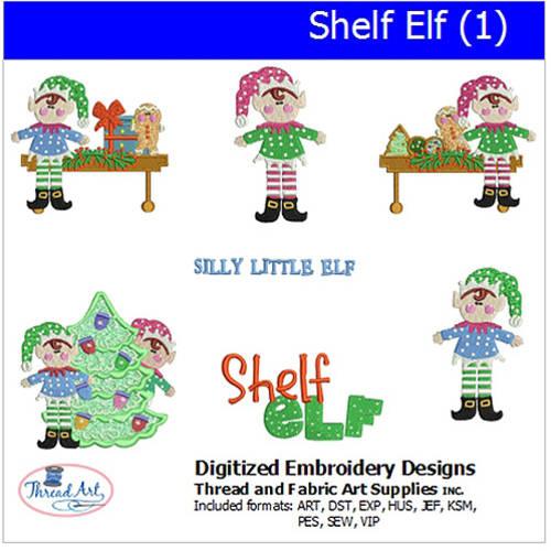 Threadart Machine Embroidery Designs Shelf Elf1 Cd Walmartcom