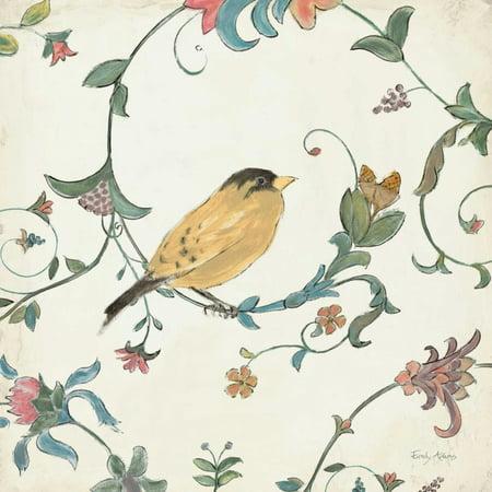 Birds Gem III Poster Print by Emily - Adams Chinese Bird