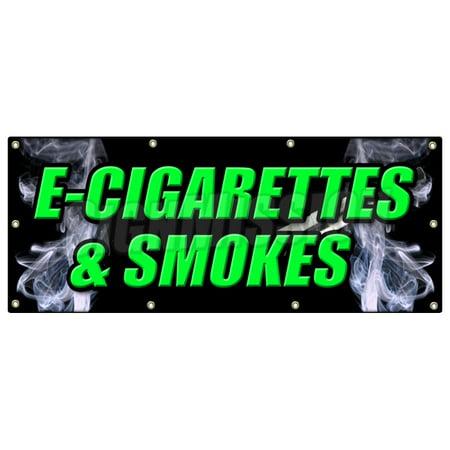 36 X96  E Cigs   Smokes Banner Sign Bubblers Rolling Paper E Cigarettes Vaporize