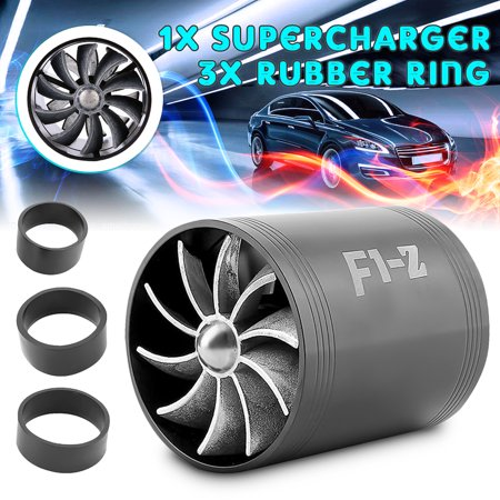 Air Intake Turbo - Supercharger Air Intake Dual Fan Turbonator Fuel Saver turbo For Turbo Turbine Supercharger