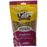 6 PACKS : Udis Gluten Free Granola, Cranberry, 12 oz Pouches
