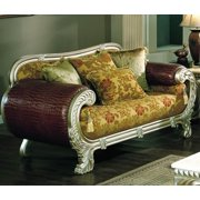 Floral Loveseat with Multiple Pillows