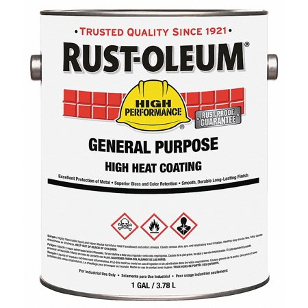 Heat Resistant Coating,1gal RUST-OLEUM 286501