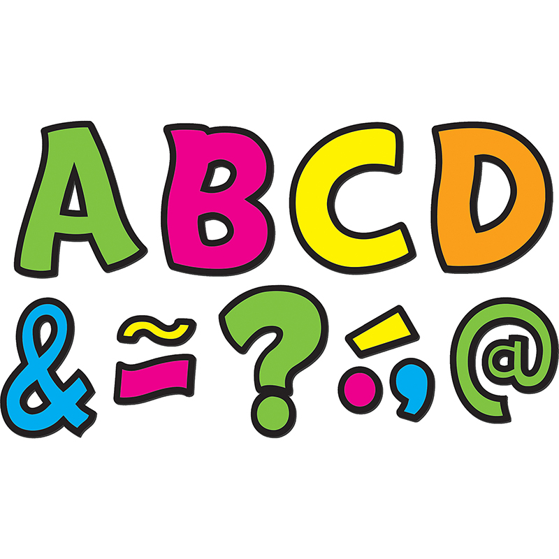"Teacher Created Resources Neon Fun 3"" Magnetic Letters"