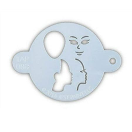 Face Painting Ideas Princess (TAP 080 Face Painting Stencil - Princess)
