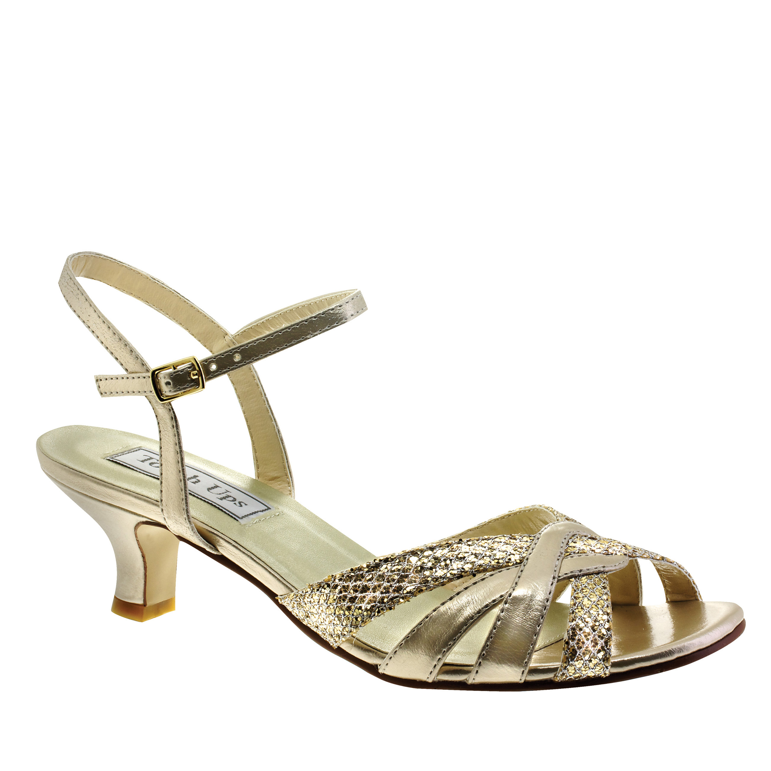 Touch Ups Womens Jane Ankle-Strap Sandal,Champagne Glitter,6.5 W US