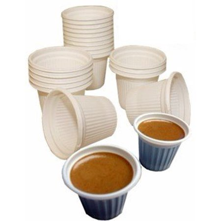 Mini disposable Cuban Style and espresso coffee cups 3/4 oz. Pack of 12