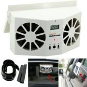 DZT1968 Solar Powered Car Window Air Vent Ventilator Mini Air Conditioner Cool Fan NEW