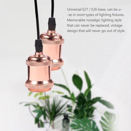 Yosoo Vintage E27/ E26 Bulbs Socket Holder / Base Copper Lamp Holder for Antique Light Bulb 90-260V,Lamp Holder, Vintage E27/ E26 Lamp Holder - image 6 of 8