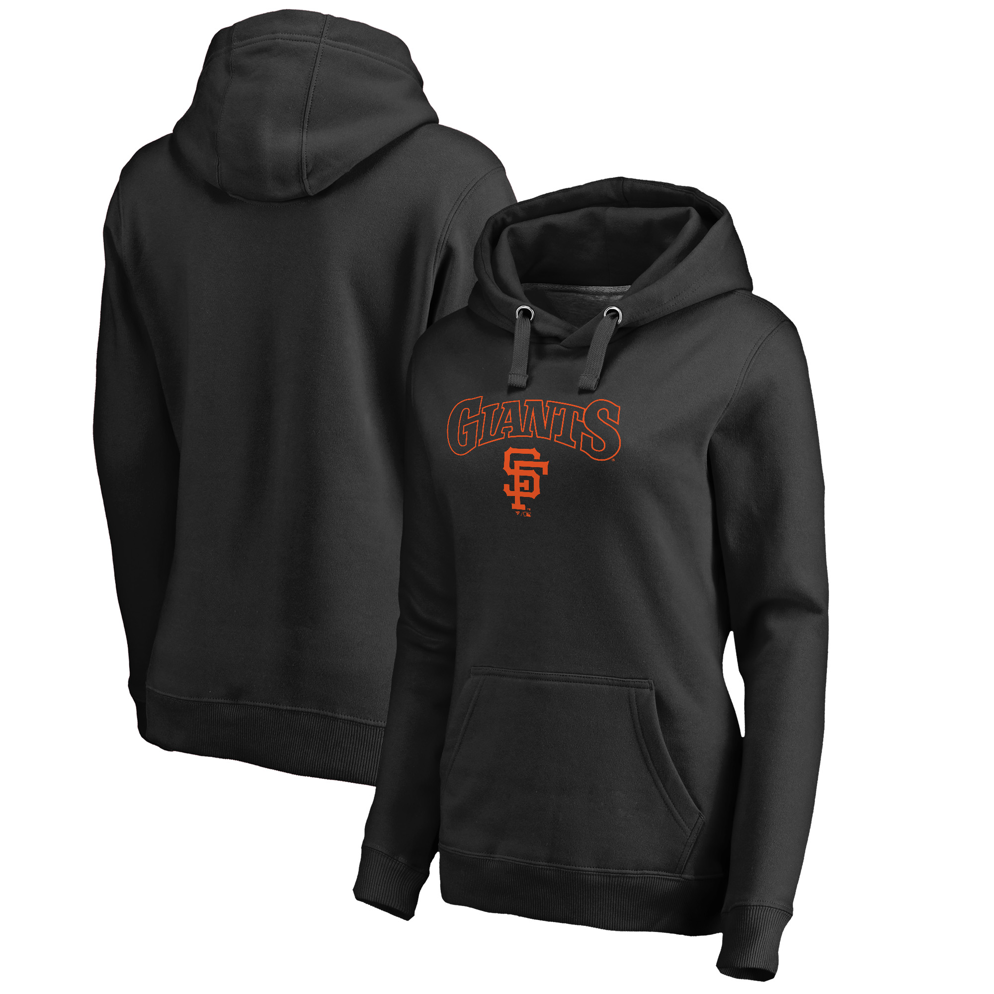San Francisco Giants Fanatics Branded Women's Cooperstown Collection Wahconah Pullover Hoodie - Black